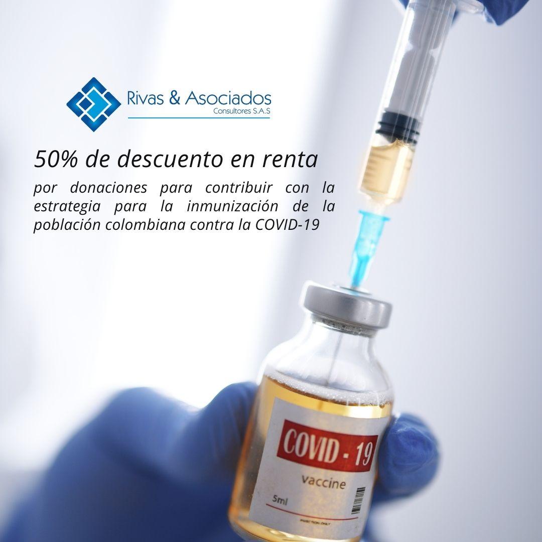 Descuento Tributario Por Donaciones Destinadas A La Adquisición De Vacunas Contra El COVID-19